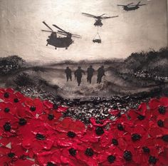 Remembrance Day art by Jacqueline Hurley Painting 'Remembered, By Day And By Night' From The War Poppy Collection