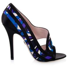 * Walking in Style * / Emilio Pucci printed satin open toe shoes |2013 Fashion High Heels|