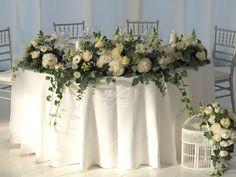 bride and groom table design / elegant wedding by Idyllic Events / Bucharest