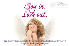 A master class on Joy! Let's celebrate a wonderful life together this will be a peace and joy filled experience! Join The Wellness Universe and Janette Stuart (it's free and you get some wonderful gifts!) Register now: Joy Master Class: Angelic Guidance to Manifesting Joy - https://wellnessuniverse.learnitlive.com/class/12125/Joy-Master-Class-with-WU-Featured-Expert-Janette-Stuart  #WUVIP #WUWorldChanger #angels #joy #freeclass