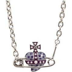 Vivienne Westwood Heart Safety Pin Orb Choker ❤ liked on Polyvore