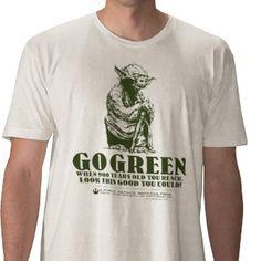 Yoda Says Go Green Tshirt by starwars