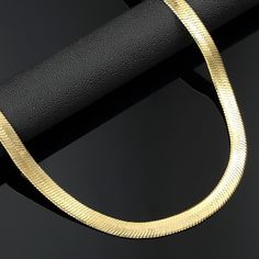 14k Yellow Gold Herring Bone Chain 1.3 mm Width 20.0 Inch Long (1.7 Grams) by RG&D..|||| #14kt #gold #chain #jewelry #metal #goldchain #whitegold #yellowgold #mens #women #his #her #style #fashion #online #shopping #chains #goldchains #follow #pinterest #richmondgoldanddiamond