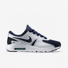 1A1A Nike Air Max Zero Qs Unisex Weiß/Mid Navy/Rift Blau/Hyper Jade Damen/Herren Schuhe