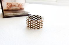 Wedding silver bronze  textured  band ring. Modern by CallOfEarth, $27.00