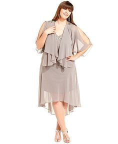 22b51601c40de SL Fashions Plus Size Dress and Jacket