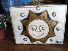 Enid Collins Vintage Box Purse Paper Mache Sun Flower in Clothing, Shoes & Accessories, Vintage, Vintage Accessories, Handbags, Purses, 1965-76 (Mod, Hippie, Disco) | eBay