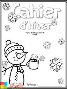 French Teacher, Teaching French, Winter Colors, Winter Theme, French Worksheets, French Language Lessons, Core French, French Classroom, French Immersion