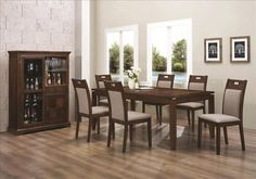 Dining Room Home Bar With Grey Futon Dining Chair Also Crystal Glass And White Rose Besides Wooden Dining Table  Glass Window  Painting  Wooden Floor  Swimming Pool  Green Plant   Some Advance Plans for Designing and Choosing Your Dining Room Furniture
