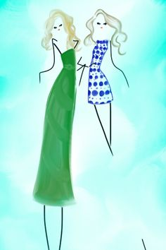 Wearing Alice + Olivia Spring 2013 RTW #fashion #fashionillustration #bybc @alice + olivia