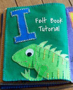 Felt book tutorial