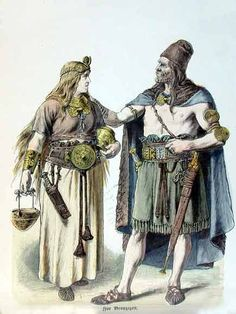 Germanic clothing in the early Bronze Age.