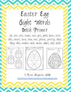 "FREE LANGUAGE ARTS LESSON - ""Easter Egg Sight Words - Dolch Primer Words"" -  Go to The Best of Teacher Entrepreneurs for this and hundreds of free lessons.  Kindergarten-1st Grade  #FreeLesson   #TeachersPayTeachers   #TPT   #LanguageArts  http://www.thebestofteacherentrepreneurs.net/2014/04/free-language-arts-lesson-easter-egg.html"