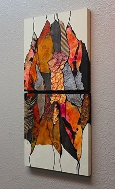 Carol Nelson – Work Zoom: Gypsy Kaftan 080117 - New Sites Contemporary Abstract Art, Modern Art, Acrylic Art, Art Techniques, Painting Inspiration, Collage Art, Watercolor Art, Art Projects, Art Drawings