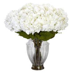 Large Hydrangea w/European Vase Silk Flower Arrangement The perfect gift. Everlasting From Silkyflowerstore.com #fakeflowers