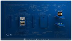 Blueprint 3D Iphone by AnnaVirtanen.deviantart.com on @DeviantArt