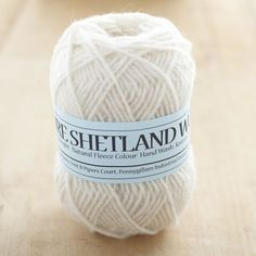 Pure Shetland white DK knitting yarn | Blacker Yarns. This site has many dyed and undyed yarns from specific breeds.