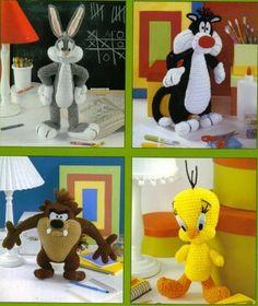 Looney Tunes Bugs Bunny Taz Sylvester & Tweety by PearlShoreCat