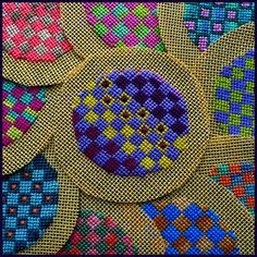 Petit Point Embroidery by Birthine, via Flickr