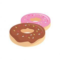 Donut Cartoon, Cute Cartoon, Skins Mini, Donut Vector, Cute Illustration, Vector Art, Donuts, Bb, Clip Art