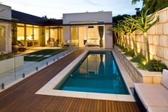 30 Small Swimming Pool Design Suitable for Your Backyard - TopDesignIdeas Small Swimming Pools, Swimming Pools Backyard, Swimming Pool Designs, Pool Landscaping, Backyard Pool Designs, Small Backyard Pools, Small Pool Design, Concrete Pool, Fiberglass Pools