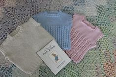 Three Baby Singlets in 4ply