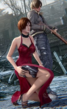 Ada Wong and Leon S. Kennedy