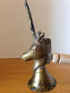 Antique Primitive Brass Unicorn Candle Snuffer