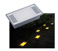 Solar 2 Amber LED Outdoor Garden Pathway Brick Light