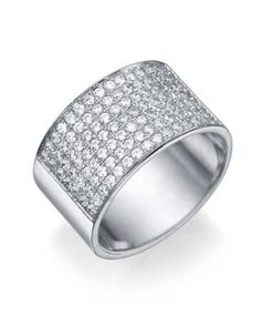 White Gold 0.84ct Diamond Semi-Eternity Wedding Ring
