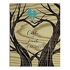 image of Love Tree Digitally Printed Canvas Wall Art