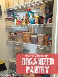 Organizing can be difficult, especially when you don't know where to start! Find out how to create an organized pantry - complete with tips and checklists to get you started!
