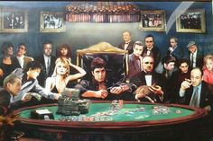 True gangsters playing poker