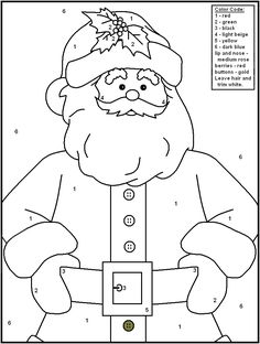 free printable christmas color by number pages merry games christmas color by number christmas
