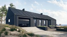 Cottage House Plans, New House Plans, Barn House Plans, House Cladding, Modern Barn House, Black House Exterior, Modern Farmhouse Exterior, Shed Homes, Small House Design