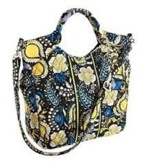 Vera Bradley NWT Two Way Tote Ellie Blue. Starting at $35 on Tophatter.com!