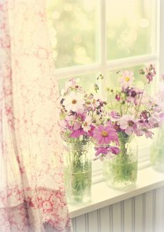 Shabby Chic Flowers Photography Ana Rosa Ideas For 2019 Deco Floral, Arte Floral, Color Splash, Estilo Cottage, Window View, Through The Window, Windows And Doors, Cottage Style, Beautiful Flowers