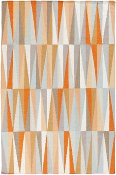 Surya Frontier Ft-580 Burnt Orange / Light Gray / Beige Area Rug