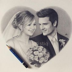 Aww this is beautiful I hope @jhutch1992 sees this RT @_artistiq: Here's my new Joshifer drawing!#HappyValentinesDay