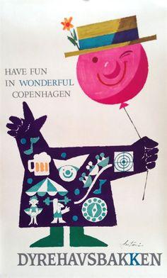 Copenhagen • Ib Antoni #tourism #poster  (1950s)