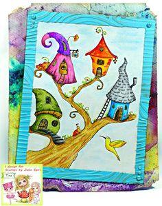 PaperPlotterLottas - CraftChaos: Julia Spiri: First Coloring Book - Whimsical Dream...
