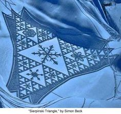 """Simon Beck's Snow and Sand Patterns - """"Sierpinski Triangle,"""" by Simon Beck - Mathematical Imagery Presented by the American Mathematical Society"""