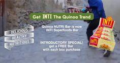 FREE Inti Superfoods Quinoa Bar Sample on http://www.freebiescouponsdeals.com/