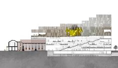 Image 5 of 7 from gallery of Manuelle Gautrand, DesignInc, and Lacoste + Stevenson Win Competition for 5 Parramatta Square. Courtesy of Manuelle Gautrand Architecture Win Competitions, Architectural Section, Lacoste, Multi Story Building, Australia, Gallery, Diagram, Image, Drawings