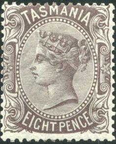 Tasmania of 1878 Tasmania, Postage Stamps, Christmas Cards, Empire, Coins, Poster, British, Europe, Door Bells