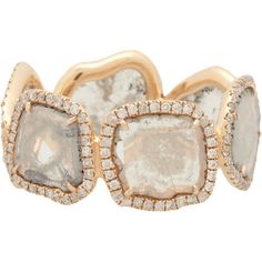 Monique Péan Atelier Diamond Slice & Recycled Rose Gold Eternity Band Ring.  A little too much ring for me personally but I can appreciate the hell out of this.
