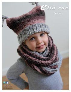 link all'originale: KFI_free_pattern-163864  BERRETTO Il berretto si lavora con i ferri diritti. Lo scaldacollo si lavora con i ferri circolari, in tondo a ferri alternati:3 ferri dir,3 ferr...