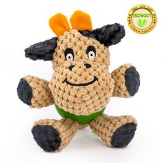 Dog Squeaky Plush Chew Toys,Cow Monkey Shape Pet Toy with Rubber Ball Body,Toys for Small Dogs and Cats,Safety Durable Material,Easy to Clean,Fashion Cute Design Indoor Playing *** You can find out more details at the link of the image. (This is an affiliate link and I receive a commission for the sales) #MyPet