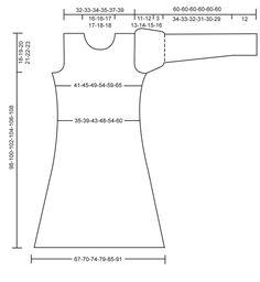 """Gebreide DROPS jurk van """"Delight"""", """"Kid-Silk"""" en """"Cotton Viscose"""" met een hart op de pas. Maat XS tot en met XXXL ~ DROPS Design"""