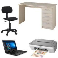"""PC portable HP 14"""" + Bureau + Chaise de bureau + Imprimante Canon pour 299€ !  #bonplan"""